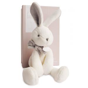 Doudou et compagnie - DC2912 - Lapin chic - taupe - 30 cm - boîte cadeau (305762)