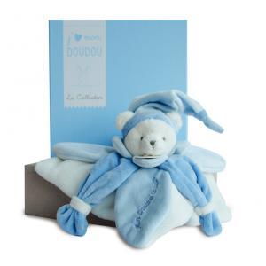 Doudou et compagnie - DC2921 - Collector ours bleu - 24 cm - boîte cadeau (305766)
