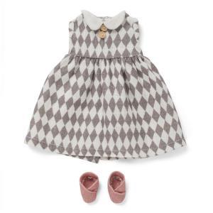 Littlephant - 1298 - Vêtements de poupée Harlequin - robe et chaussures (307662)