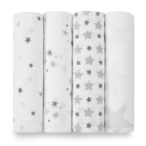 Aden and Anais - 2038G - Pack de 4 maxi-langes en mousseline de coton twinkle (308672)