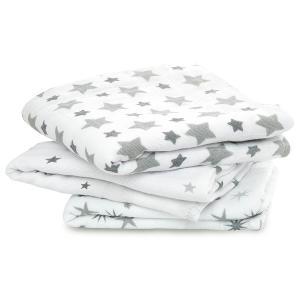 Aden and Anais - 7203G - Pack de 3 musy-langes en mousseline de coton twinkle (308860)