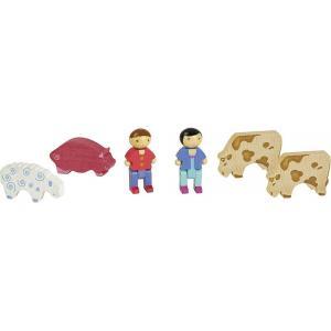 Jeujura - 8086 - Coffret 2 personnages et animaux ferme (3171)