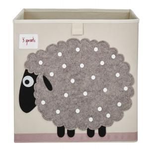 3 Sprouts - 107-002-011 - Cube de rangement Mouton (311262)