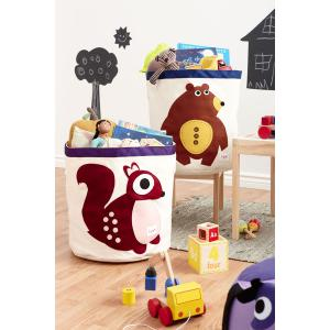 3 Sprouts - 107-000-001 - Sac à jouets Ours (311328)