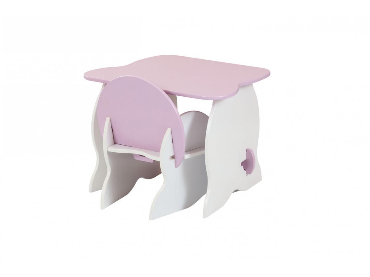 Room studio ensemble mon premier fauteuil et bureau blanc rose