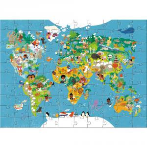 Haba - 302003 - Puzzle Carte du monde (315628)