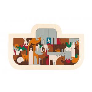 Hape - E6525 - Puzzle George Luck arche de Noé (318750)