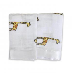 Aden and Anais - 7507G - Pack de 2 couvertures-doudou issie™ en mousseline de coton jungle jam (318862)