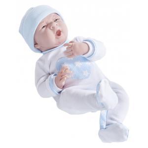 Berenguer - 18056 - Poupon Newborn nouveau né sexué garçon pyjama manches longues bleu 38 cm (320726)