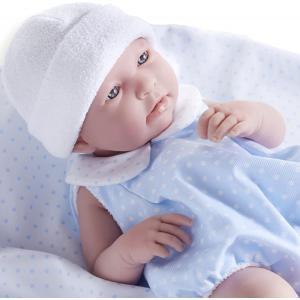 Berenguer - 18108 - Poupon Newborn nouveau né sexué garçon barboteuse bleue avec couverture 43 cm (320728)