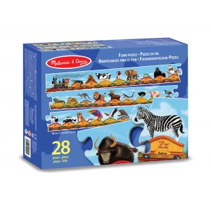 Melissa and doug - 10424 - Puzzle de sol alphabet train 28 pièces (322238)