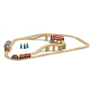 Melissa and doug - 10704 - Circuit train avec pont rotatif (322316)
