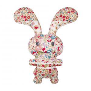 Trousselier - V1099 98 - Funny Bunny Doudou Hochet - Fleurs Rouges 24Cm (327958)