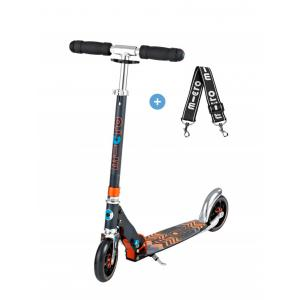 Micro - SA0121 - Trottinette Micro Speed+  - Noir/Orange - PU 145mm (328226)