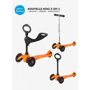 Micro - MM0155 - Trottinette Mini 3in1 Sporty - Orange (siège, barre en O, barre en T) (328506)