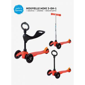 Micro - MM0152 - Trottinette Mini 3in1 Sporty - Rouge (siège, barre en O, barre en T) (328512)