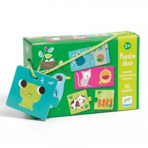 Djeco - DJ08164 - Puzzles duo-trio -  Puzzle duo habitat (330142)