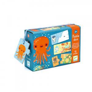 Djeco - DJ08156 - Puzzles duo-trio -  Puzzle duo cache-cache (330144)