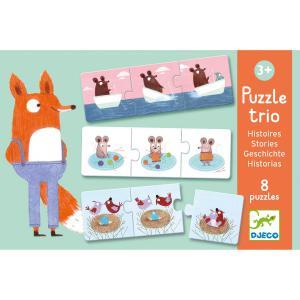 Djeco - DJ08149 - Puzzle duo-trio Puzzle trio Histoires (330146)