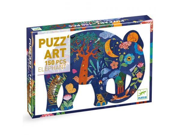 Puzz'art eléphant - 150 pièces