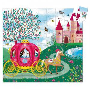 Djeco - DJ07254 - Puzzle silhouettes Le carrosse d'Elise - 54 pièces (330316)