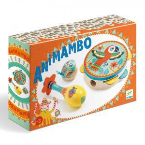 Djeco - DJ06016 - Animambo -  Set de 3 instruments*                                           Tambourin-Maracas-Castagnette * (330860)