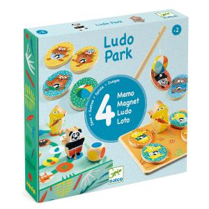 Djeco - DJ01698 - Jeu éducatif bois LudoPark - 4 games (331130)