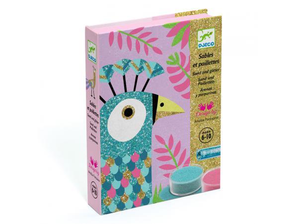 Sables colorés - eblouissants oiseaux*