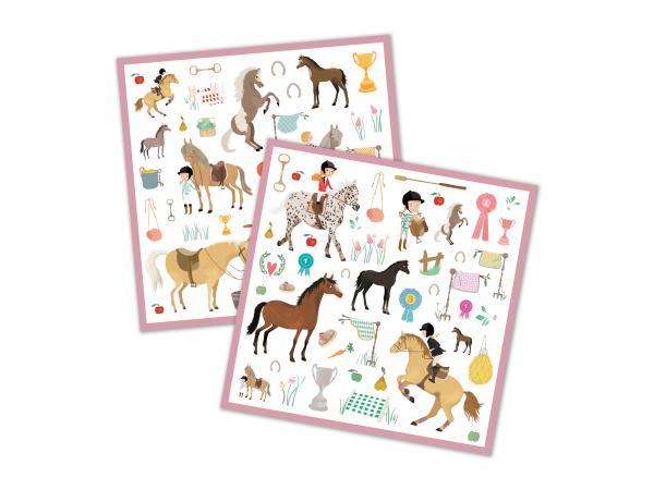 Stickers djeco les chevaux