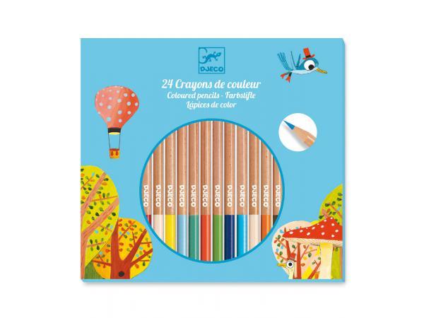 Les couleurs - pour les grands - 24 crayons de couleur