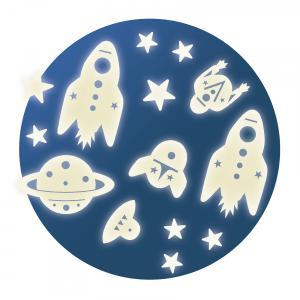 Djeco - DD04591 - Décors phosphorescents - Mission espace (332228)