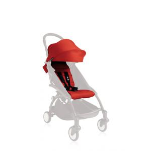 Babyzen - BZ10104-04-A - YOYO+ Pack couleur 6+ Rouge (comprend 1 capote 6+, 1 coussin) (332844)