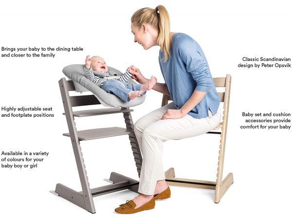 stokke chaise haute tripp trapp blanc. Black Bedroom Furniture Sets. Home Design Ideas