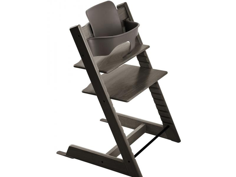 stokke accessoire baby set couleur gris brume pour chaise tripp trapp. Black Bedroom Furniture Sets. Home Design Ideas