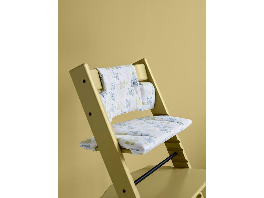 Stokke coussin papillons pastel enduit pour chaise for Chaise pastel