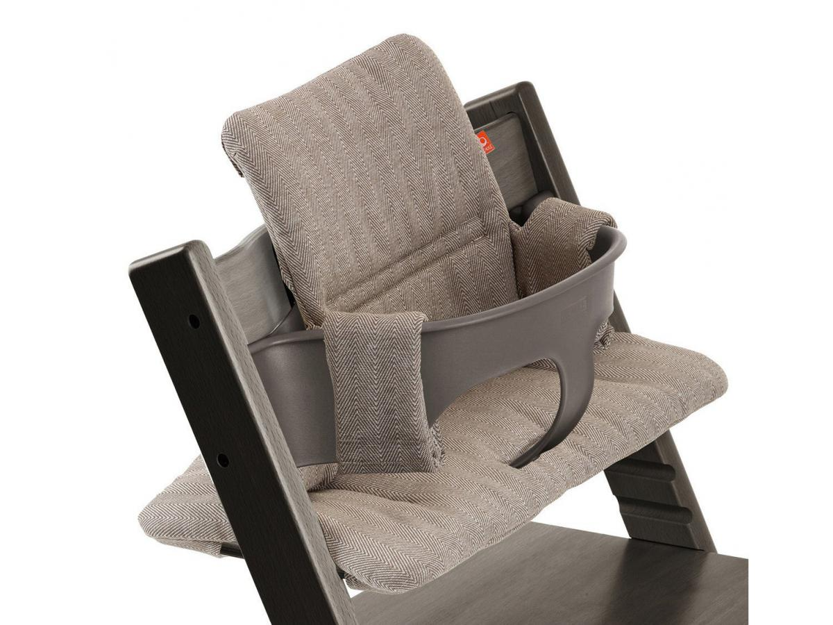 stokke coussin pour chaise tripp trapp tweed brume. Black Bedroom Furniture Sets. Home Design Ideas