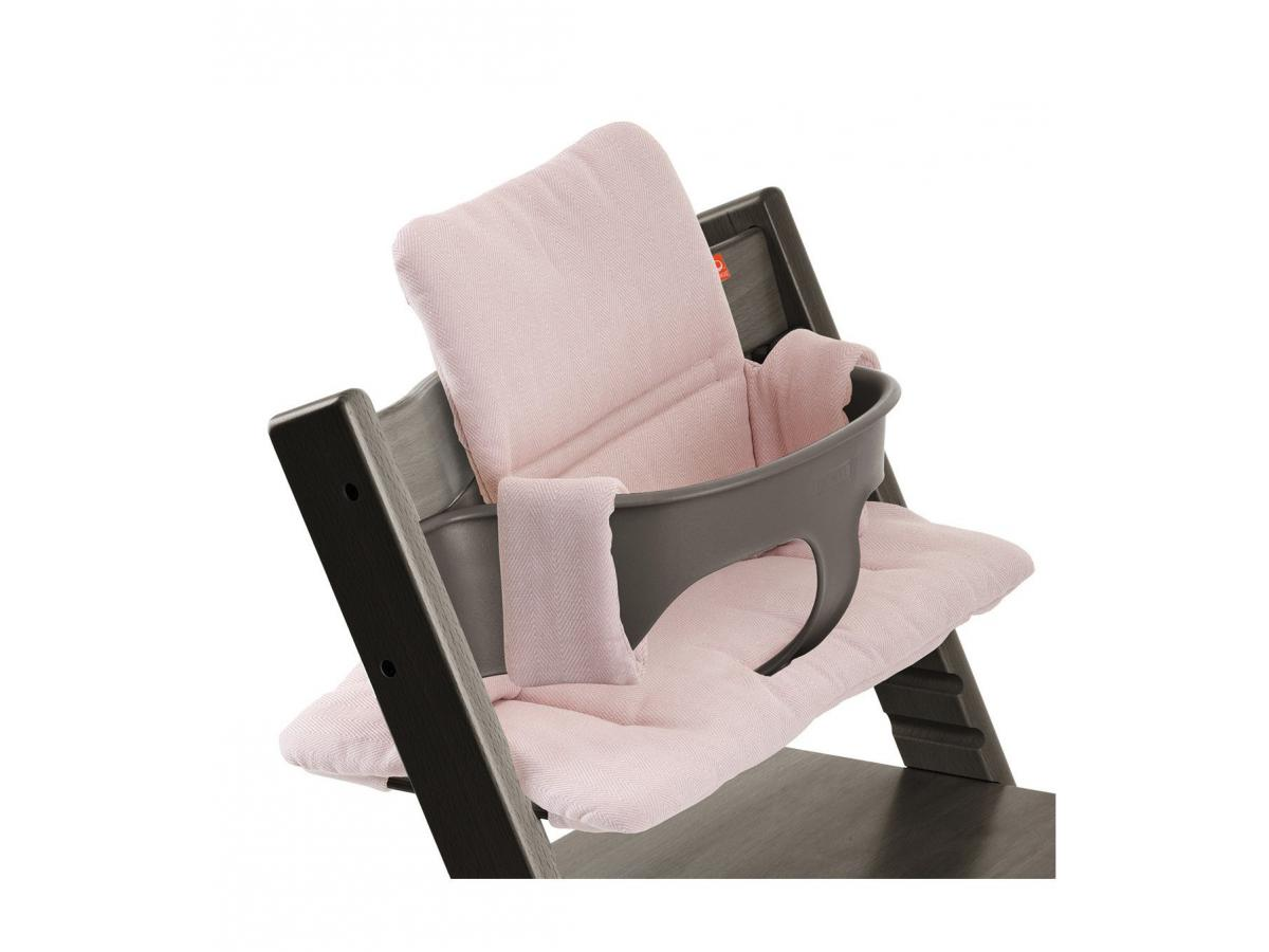 stokke coussin pour chaise tripp trapp tweed rose. Black Bedroom Furniture Sets. Home Design Ideas