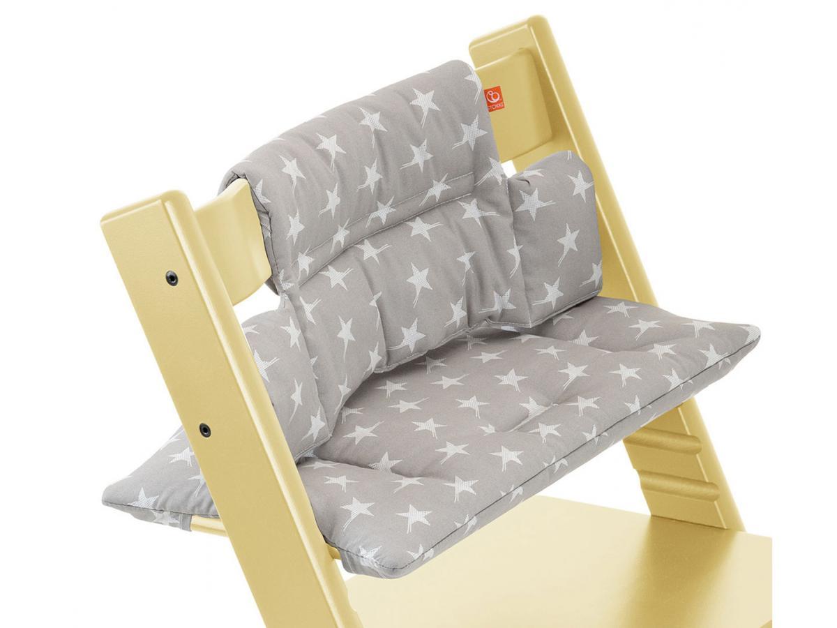 stokke coussin etoiles grises enduit pour chaise tripp trapp. Black Bedroom Furniture Sets. Home Design Ideas
