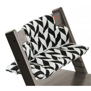 Stokke - 100332 - Coussin pour chaise Tripp Trapp Chevrons Noir (332984)