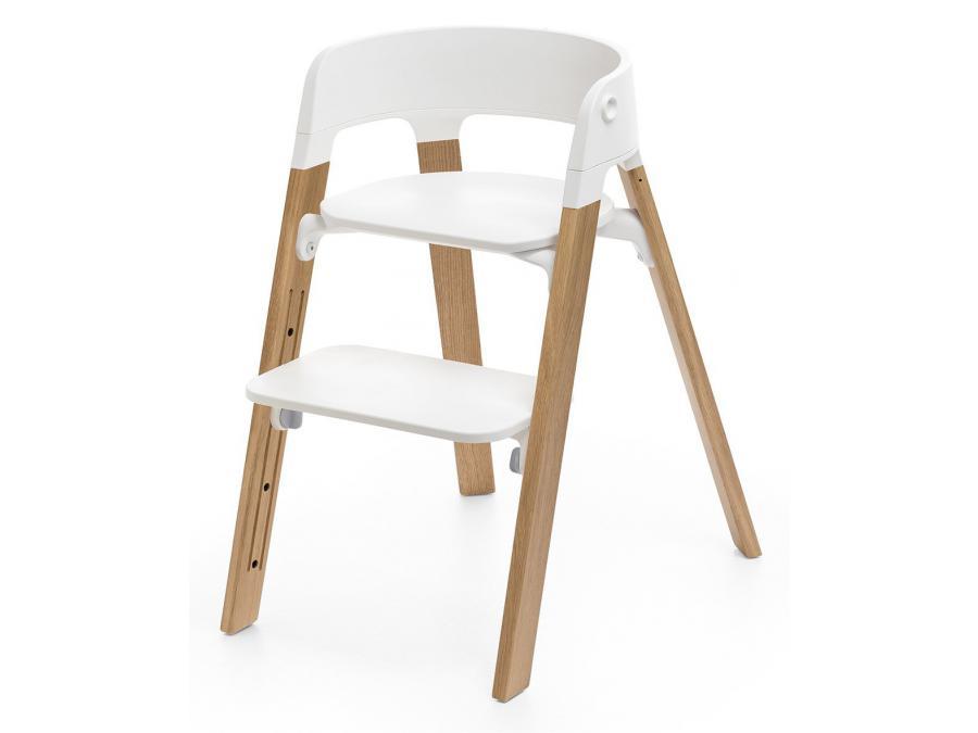 stokke chaise haute stokke steps tm pieds bois de chene couleur naturel. Black Bedroom Furniture Sets. Home Design Ideas