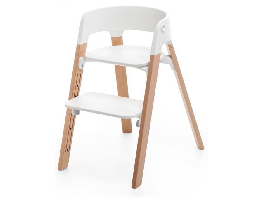 Stokke pieds de chaise haute steps h tre naturel for Chaise haute stokke prix