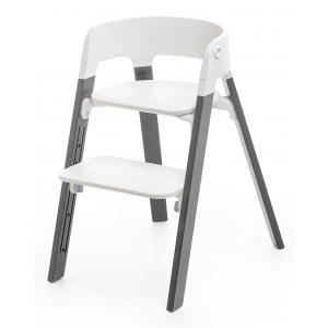 Stokke - 349404 - Pieds de chaise haute Steps Hêtre Gris tempête (333006)