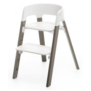 Stokke - 349405 - Pieds de chaise haute Steps Hêtre Gris brume (333008)