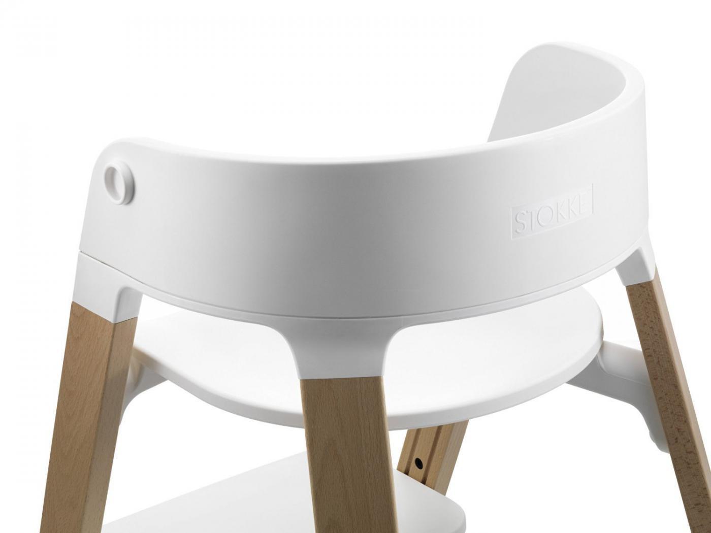 stokke assise blanc pour chaise haute steps. Black Bedroom Furniture Sets. Home Design Ideas
