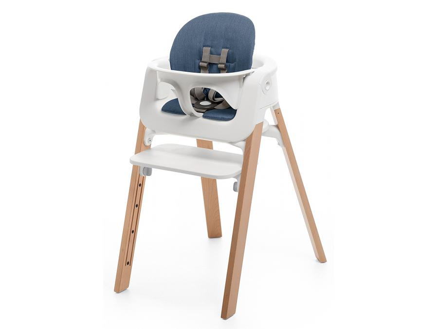 stokke coussin bleu pour chaise haute stokke steps. Black Bedroom Furniture Sets. Home Design Ideas