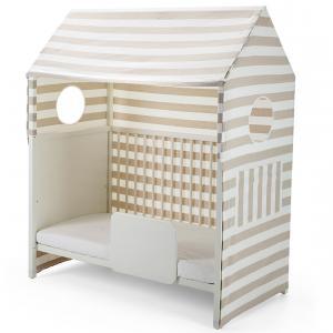 Stokke - 408901 - Habillage cabane pour lit Home Beige rayé (333152)