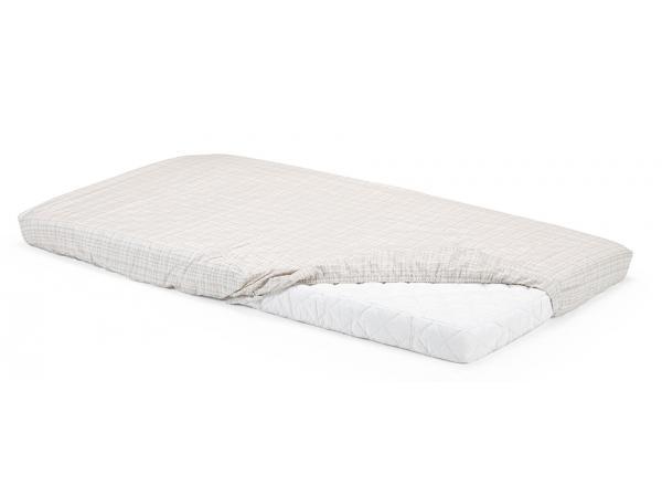 Drap housse stokke blanc et beige pour lit stokke home