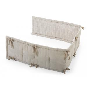 Stokke - 408402 - Demi-tour de lit universel Naturel/Beige Checks (333166)