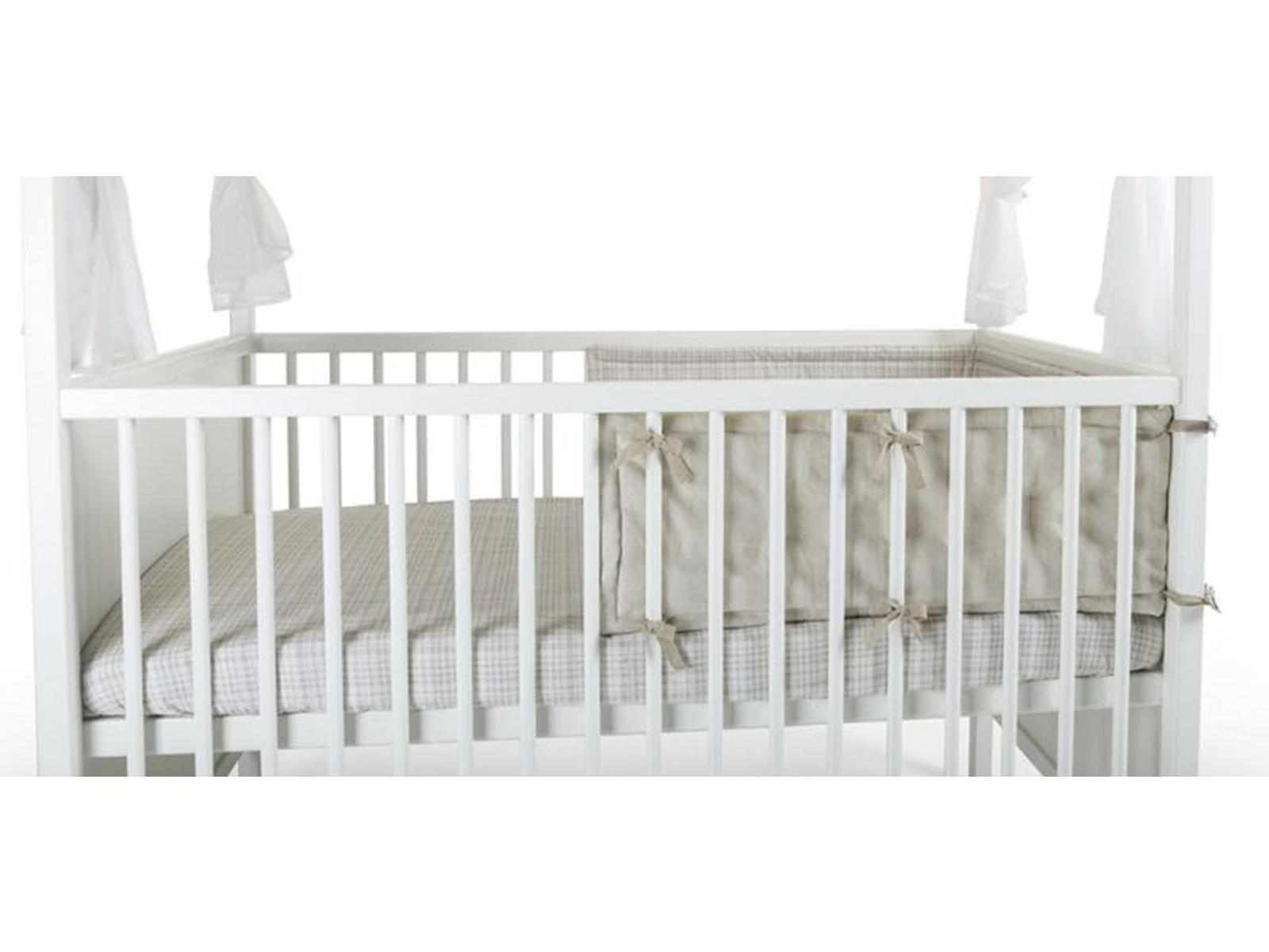 stokke mi tour de lit stokke couleur naturel beige checks. Black Bedroom Furniture Sets. Home Design Ideas