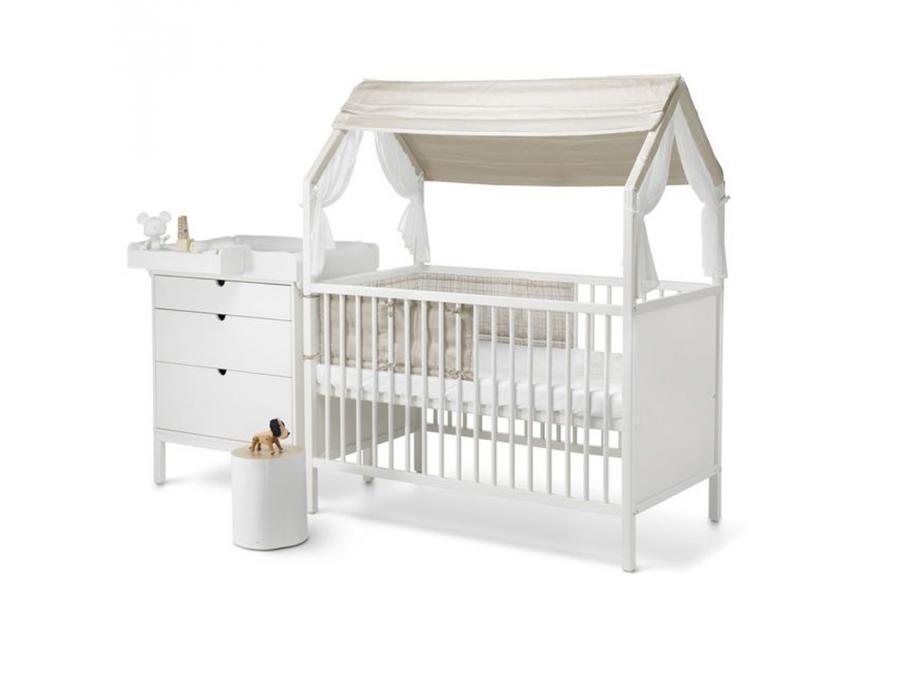 stokke mi tour de lit stokke couleur naturel beige checks. Black Bedroom Furniture Sets. Home Design Ideas